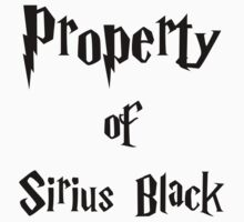 Property of Sirius Black Kids Clothes