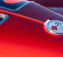 1963 Chevrolet Corvette Rear Emblem by Jill Reger