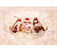 Sweet - Ice Cream - Banana split Photographic Print