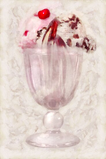 Sweet - Ice Cream - Ice cream sundae by Mike  Savad