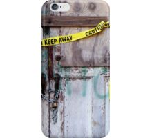 Warning iPhone Case iPhone Case/Skin