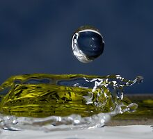 Drop of Water splashing, close up by Sami Sarkis