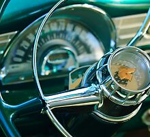 1956 Pontiac Chieftain Steering Wheel by Jill Reger