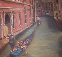 Gondolas in Venice by salingjj