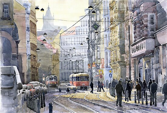 Prague Vodickova str variant by Yuriy Shevchuk