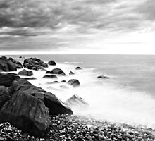 B&W Back Beach by Damon Colbeck