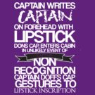 Captain Lipstick (White) by KitsuneDesigns