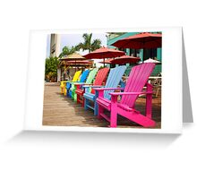 Fort Myers Beach Chairs Greeting Card