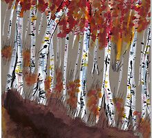 fall birches by wormink