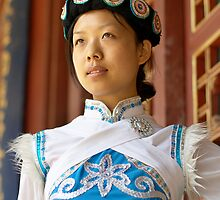 Chinese Naxi Girl by barnabychambers