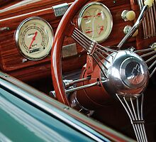 1940 Chevrolet Steering Wheel by Jill Reger
