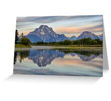 Mount Moran Sunrise Greeting Card