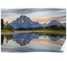 Mount Moran Sunrise Poster