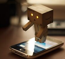 Danbo tries to use my iPhone by the-sandman