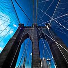 Falling Lines - Brooklyn Bridge by Thomas Splietker