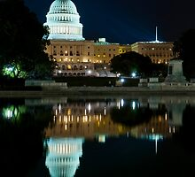 The Capitol Building at Night, Washington DC by Ken Howard