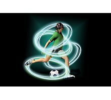 Soccer Player tee and iphone case Photographic Print