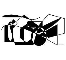 Geometric Black & White Shapes Photographic Print