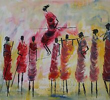 Masai Jumping by Abumwenye