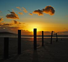 Golden hour sunset by cjsphoto