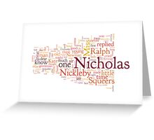 The Life and Adventures of Nicholas Nickleby Greeting Card