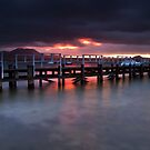 Alberta Street Wharf Dawn by Ken Wright