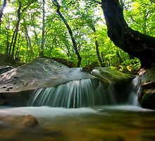 Korean waterfall in Seoraksan by AdamRussell