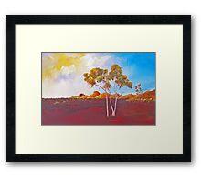Red Centre Dawn Framed Print