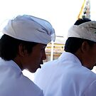 2 men at puri agung ceremony by Michael Brewer