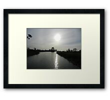 Following the light Framed Print