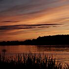 Sunset over Istra river by DyonisRakhl