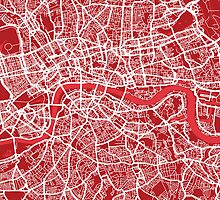 London Map Street Art by ArtPrints