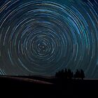 Star trails over Tuscany by Matteo Colombo