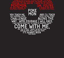 Pokemon Typography by TitanVex