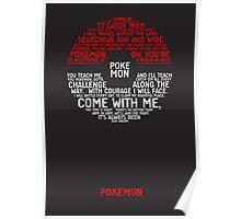 Pokemon Typography Poster