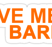 Who's Barry? Sticker
