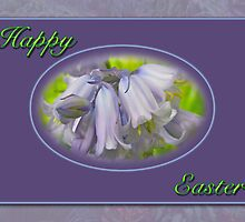 Happy Easter Blue Hyacinth Flowers by MotherNature