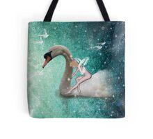 Ride a White Swan Tote Bag