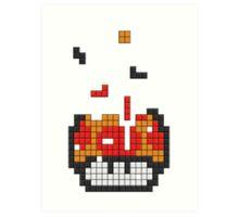 Super Mario Mushroom Pixel Art Print