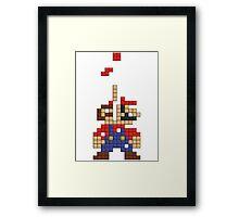 Super Mario Pixel Framed Print