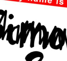 His name is Simon Sticker