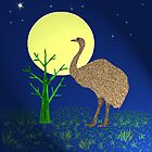 Emu By Moonlight by Margaret Stevens
