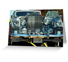 1955 Silver Wraith Rolls Royce............ Greeting Card