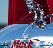1952 L Model Mack Pumper Fire Truck Hood Ornament by Jill Reger
