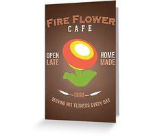 Fire Flower Cafe - Remix Greeting Card
