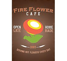 Fire Flower Cafe - Remix Photographic Print
