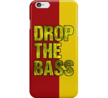 Drop The Bass (yellow) iPhone Case/Skin