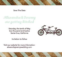 Pulp Wedding - Save the Date (Bicycle) by PulpSisters