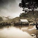 Boatshed - Dove Lake by Shari Mattox