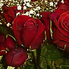 Red Rose Bouquet by Vickie Emms